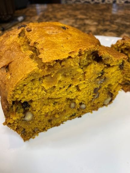 My Pumpkin Bread right out of the oven